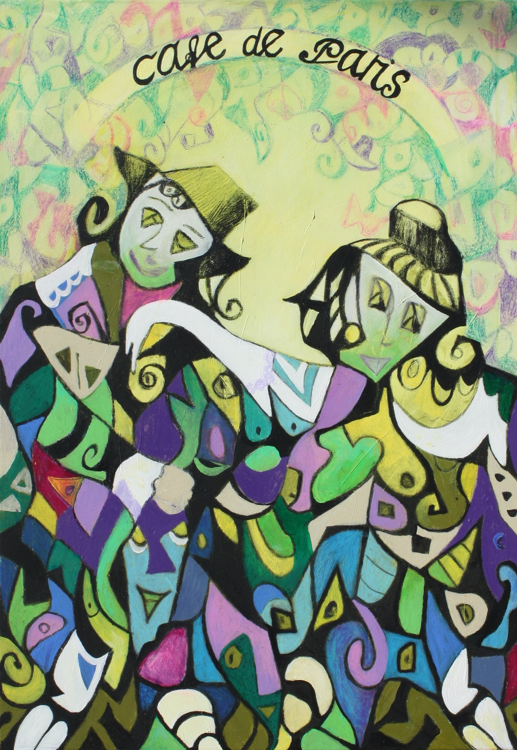 """Painting """"According to Caro Emerald: """"A Night Like This"""""""", painted by Elena Birkenwald in 2012"""