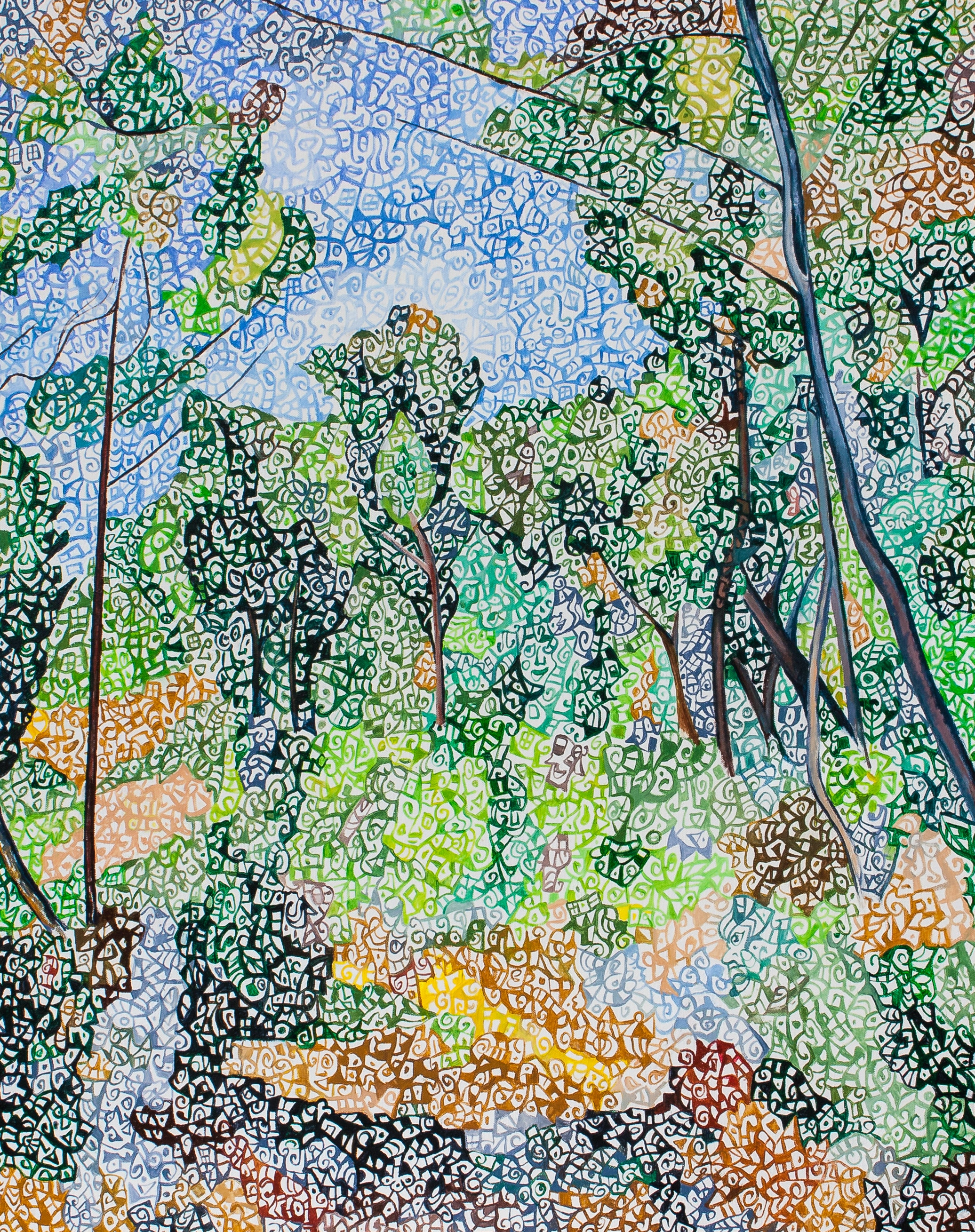 "According to Cezanne ""Clairière"""