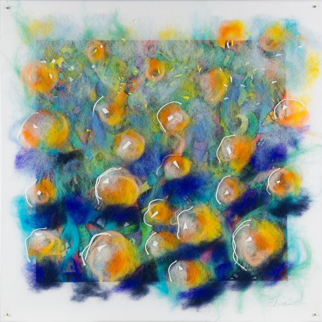 """Painting """"Apricots"""", painted by Elena Birkenwald in 2021"""