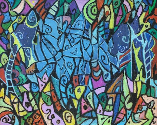 "Painting ""Asleep"", painted by Elena Birkenwald in 2013"