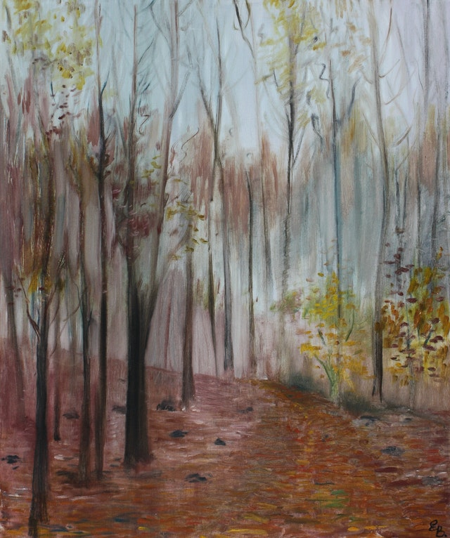 """Painting """"Autumn"""", painted by Elena Birkenwald in 1998"""