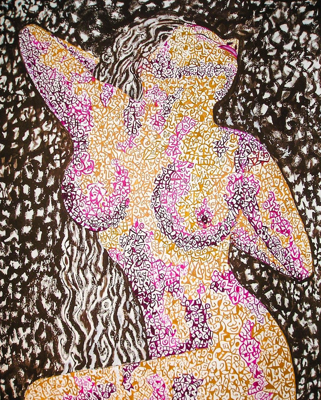 "Painting ""Awakening"", painted by Elena Birkenwald in 2007"