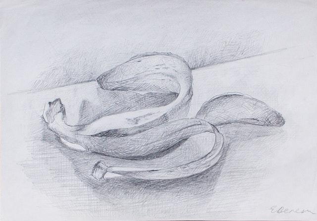 "Painting ""Banana peel"", painted by Elena Birkenwald in 2004"