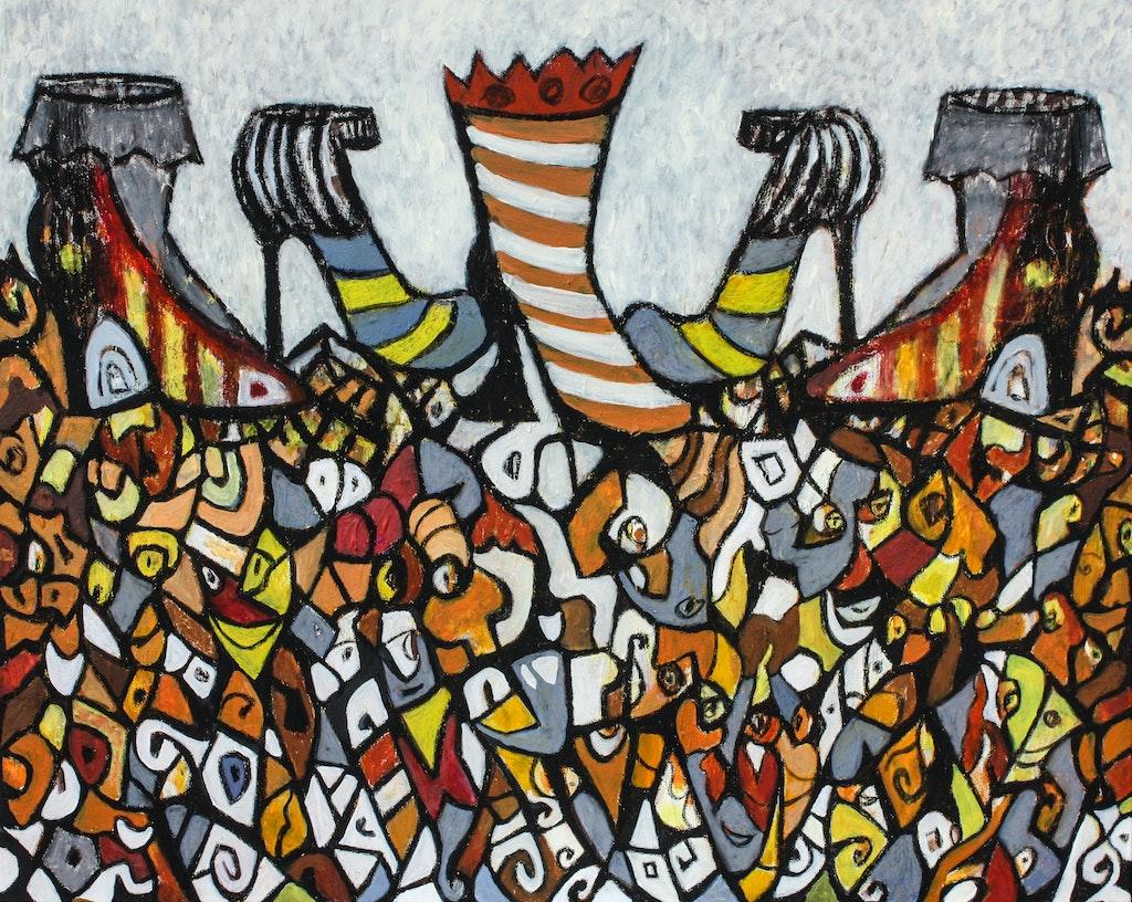 """Painting """"Below the heel"""", painted by Elena Birkenwald in 2012"""