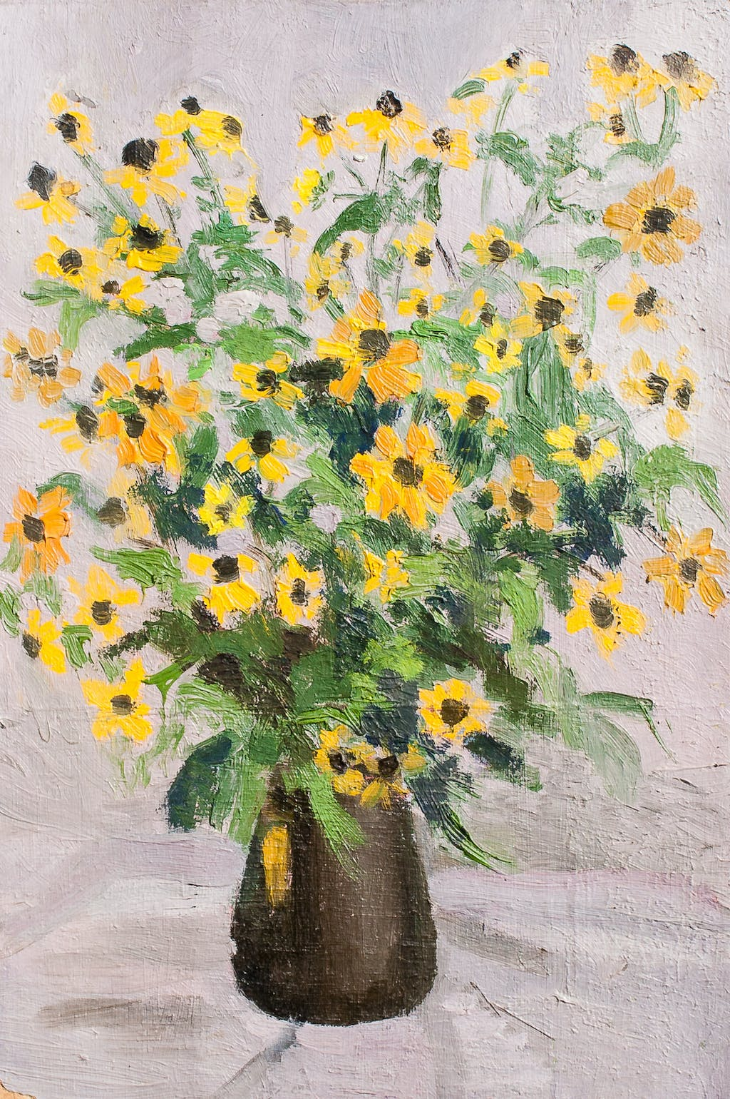 "Painting ""Bouquet"", painted by Elena Birkenwald in 1985"