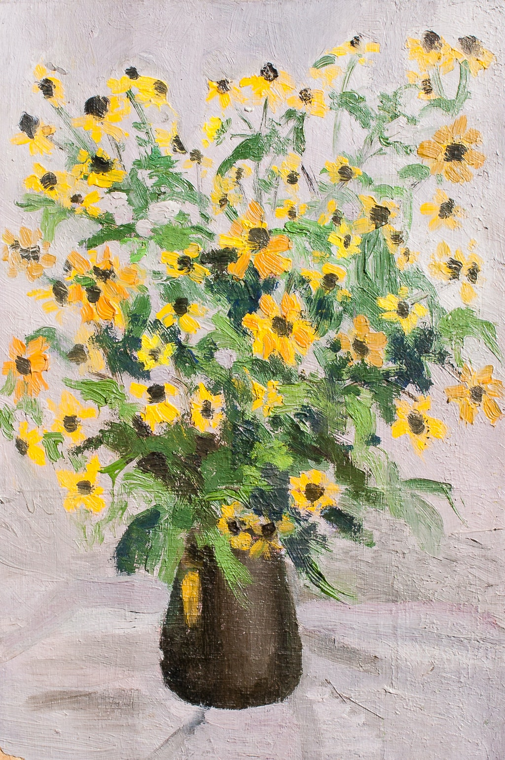 """Painting """"Bouquet"""", painted by Elena Birkenwald in 1985"""