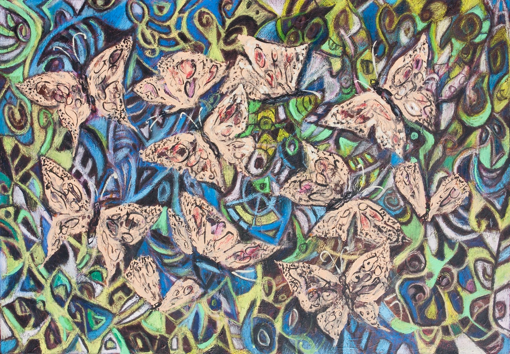 "Painting ""Butterflies"", painted by Elena Birkenwald in 2008"