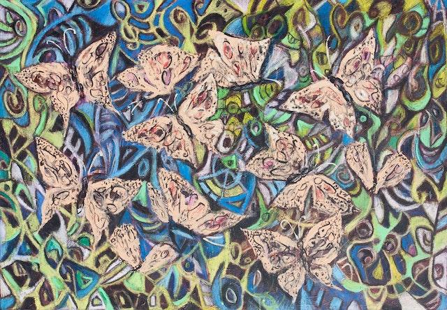 "Painting ""Butterflies"", painted by Elena Birkenwald in 2008"