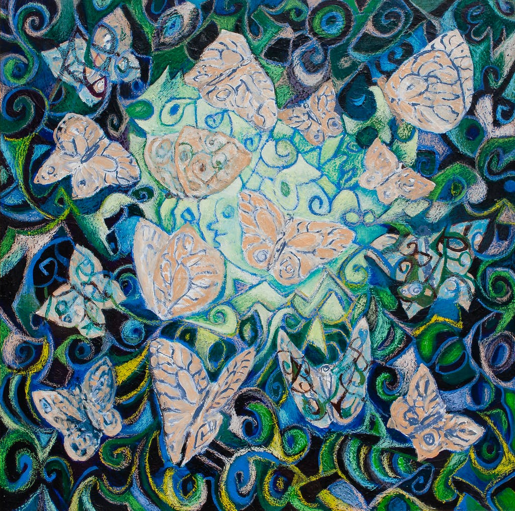 "Painting ""Butterflies"", painted by Elena Birkenwald in 2009"