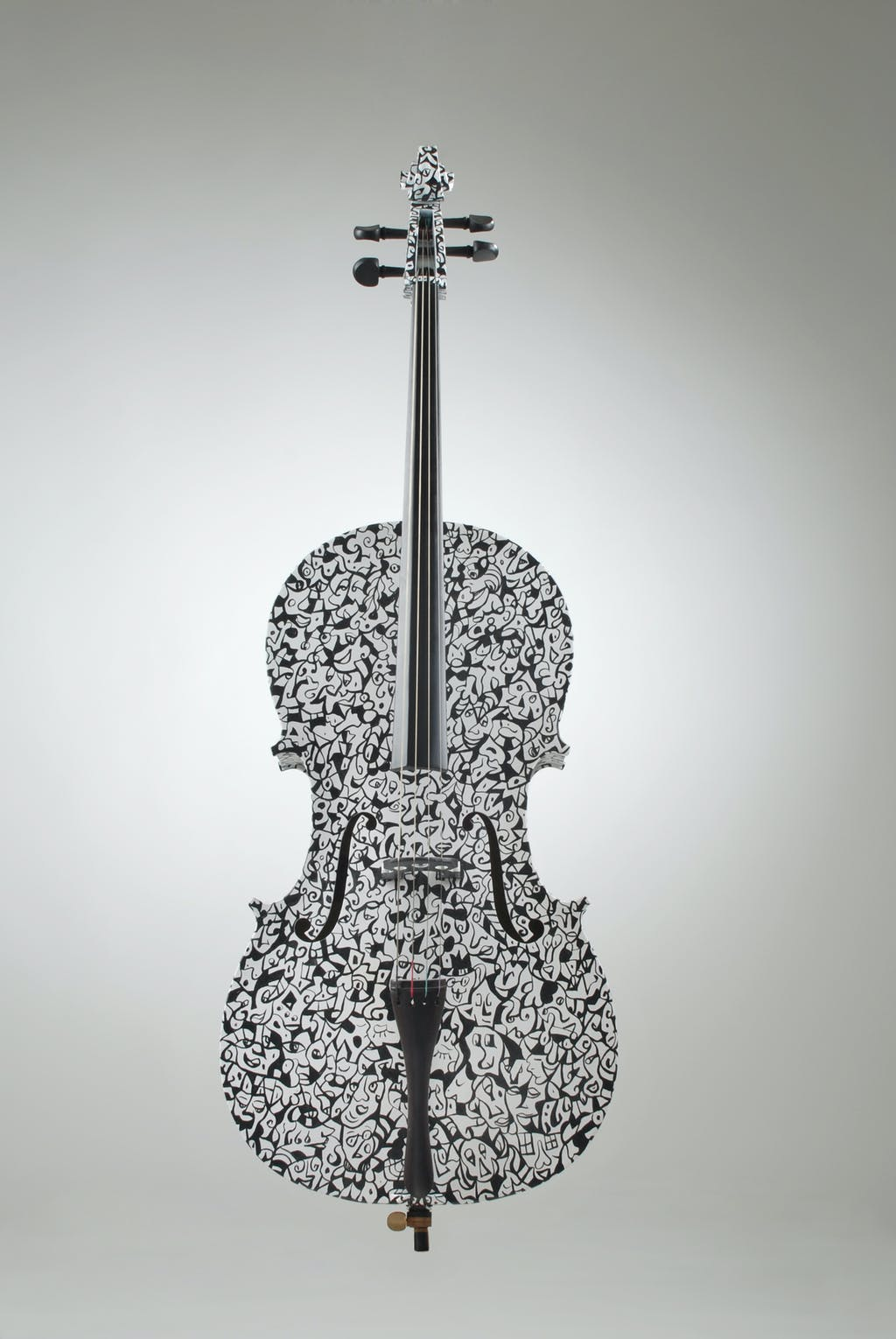 """Cello """"Badinerie"""", painted by Elena Birkenwald in 2000"""