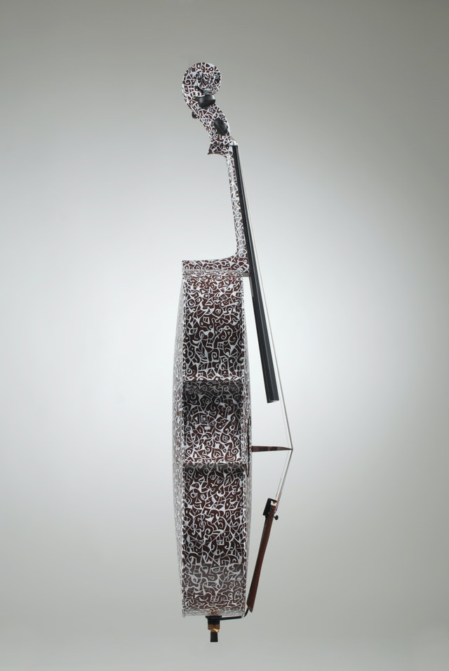 """Cello """"Boléro"""", painted by Elena Birkenwald in 2000"""