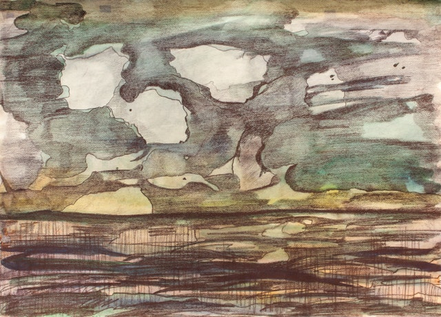 """Painting """"Clouds"""", painted by Elena Birkenwald in 1997"""