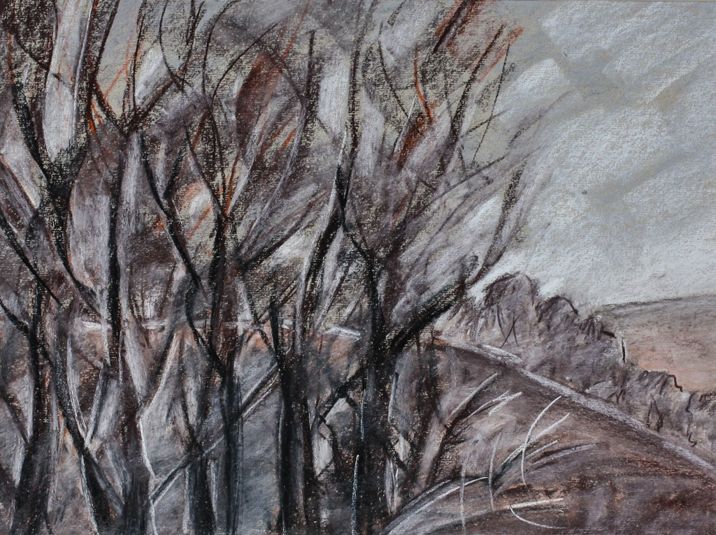 """Painting """"December"""", painted by Elena Birkenwald in 2003"""