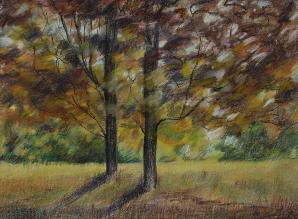"""Painting """"Fall"""", painted by Elena Birkenwald in 2000"""