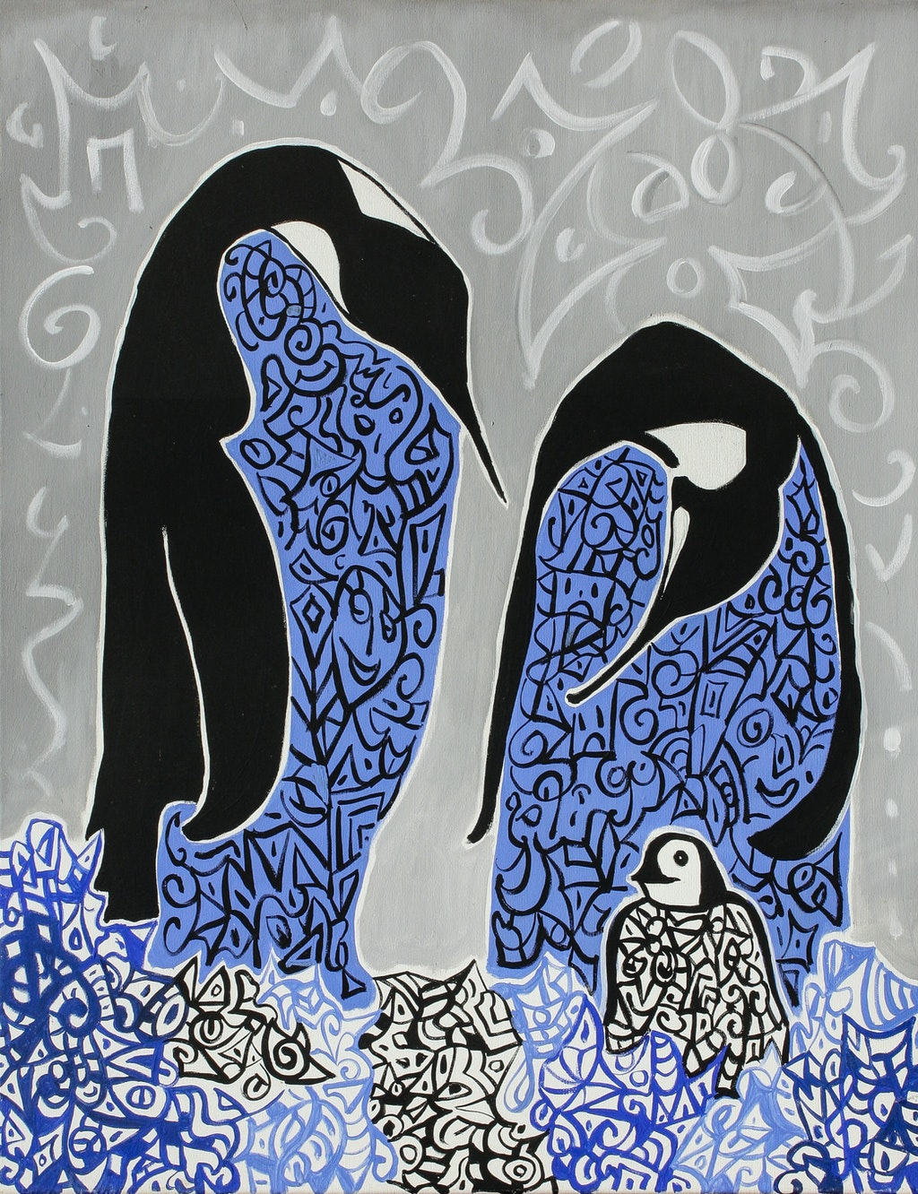 "Painting ""Family"", painted by Elena Birkenwald in 2003"