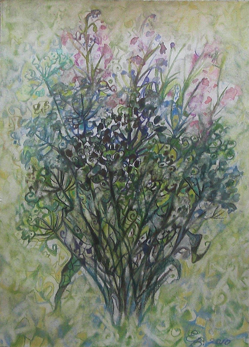 "Painting ""Field flowers"", painted by Elena Birkenwald in 2010"