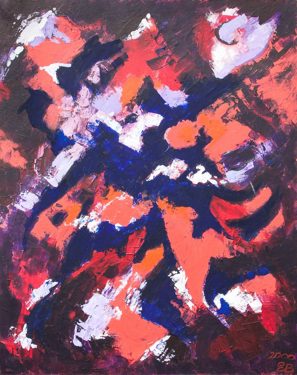 """Painting """"Fire Fantasy"""", painted by Elena Birkenwald in 2001"""