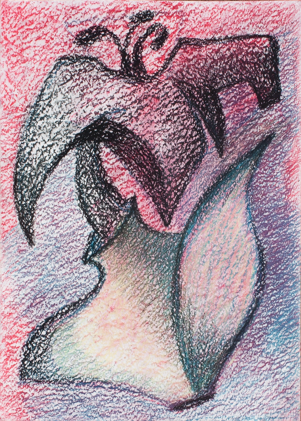 """Painting """"Flower"""", painted by Elena Birkenwald in 1998"""