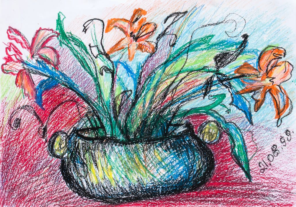 """Painting """"Flowers"""", painted by Elena Birkenwald in 1999"""