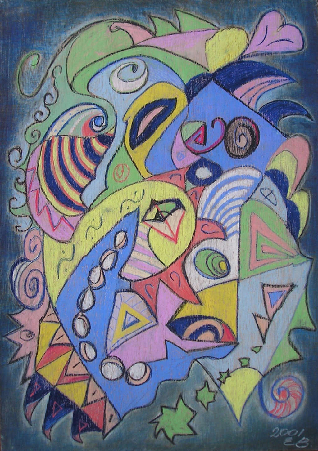 """Painting """"Indefinable"""", painted by Elena Birkenwald in 2001"""