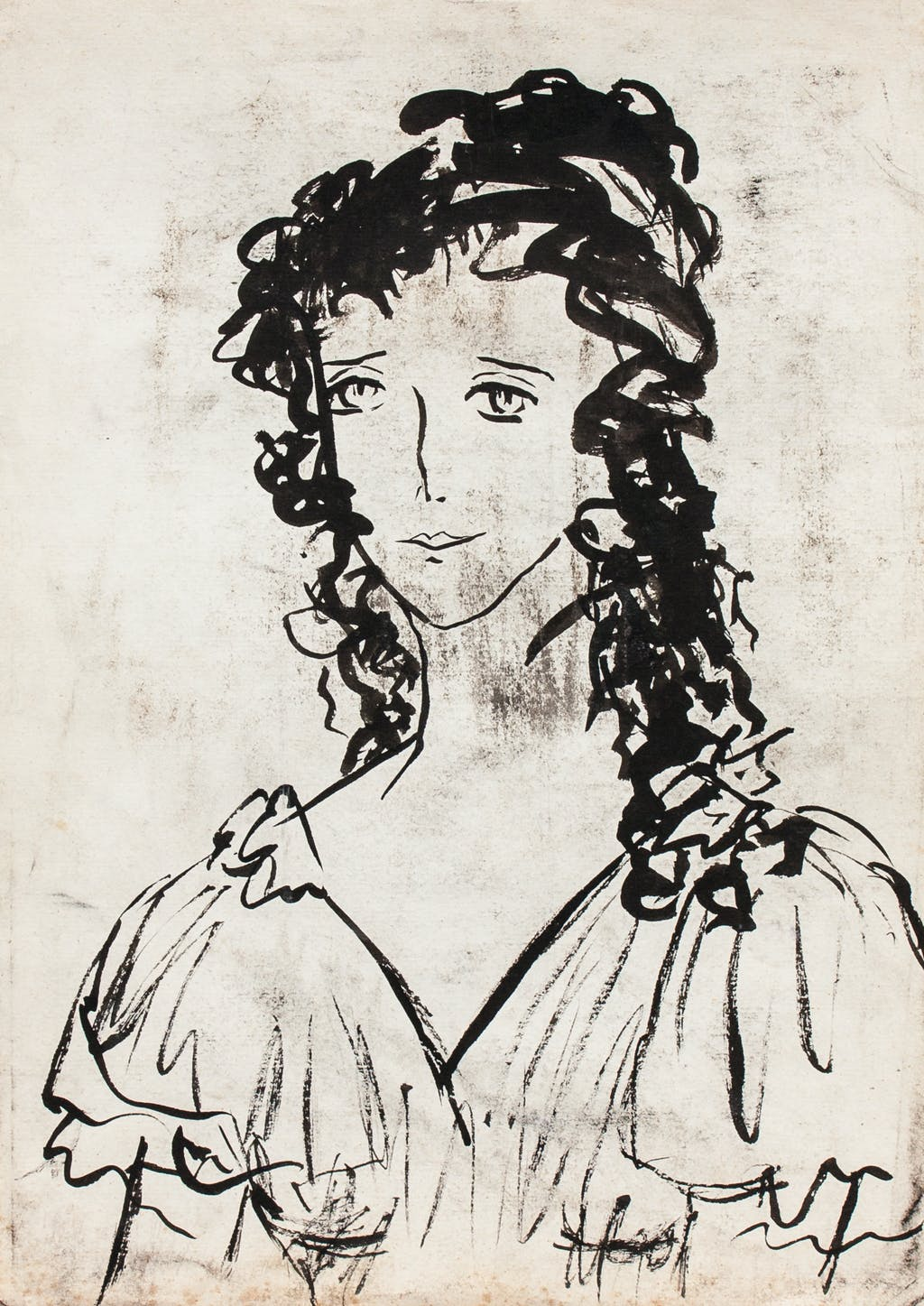 """Painting """"Natasha Rostova (from """"War and Peace"""")"""", painted by Elena Birkenwald in 1983"""
