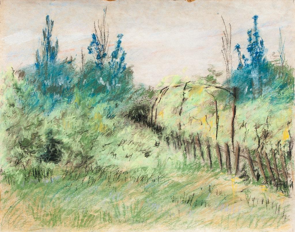 "Painting ""Odessa, Carolino-Buhas, Dacha"", painted by Elena Birkenwald in 1989"