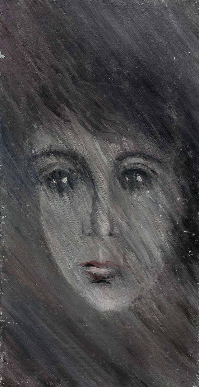 """Painting """"Rain"""", painted by Elena Birkenwald in 1986"""