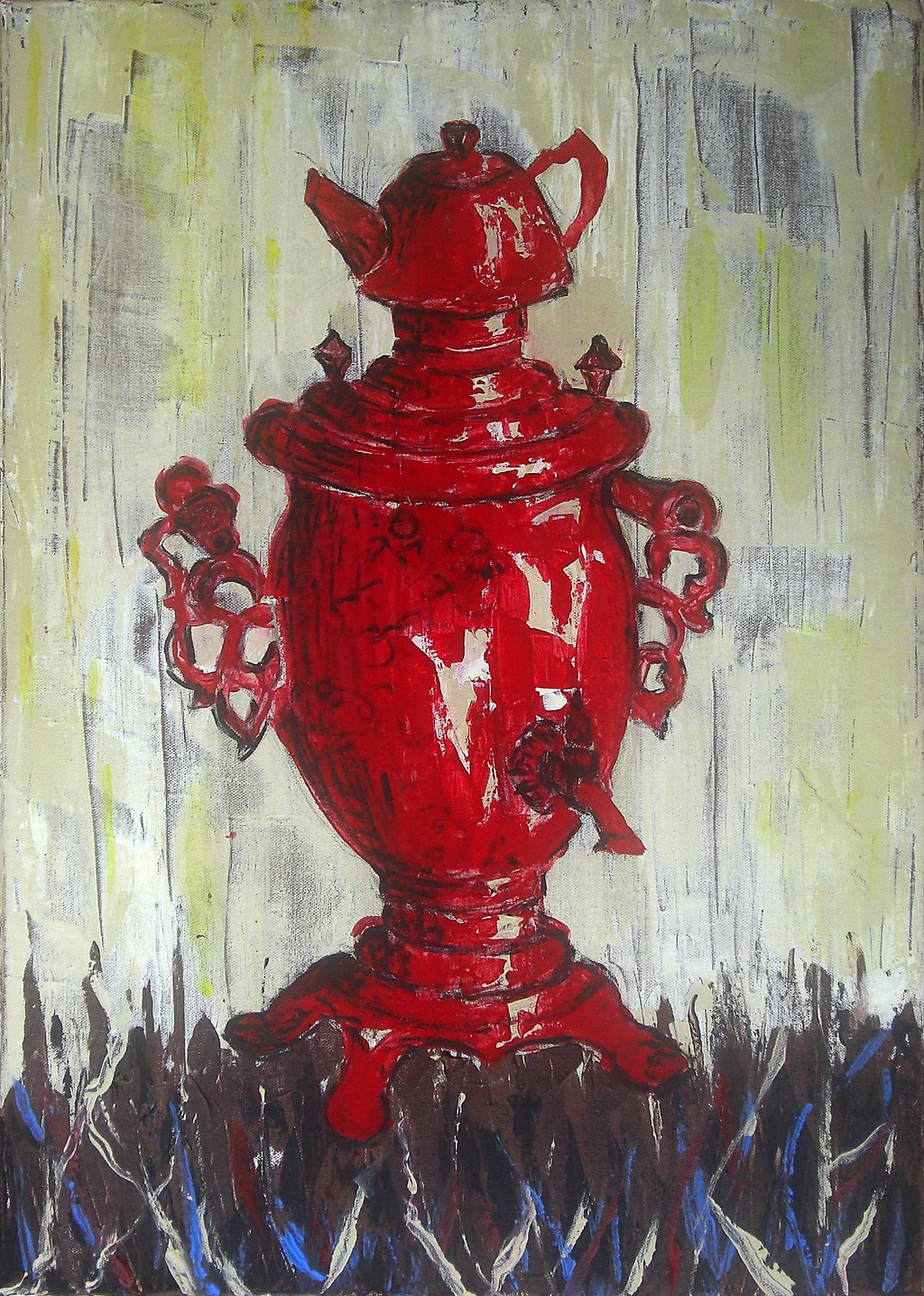 """Painting """"Samovar"""", painted by Elena Birkenwald in 2008"""