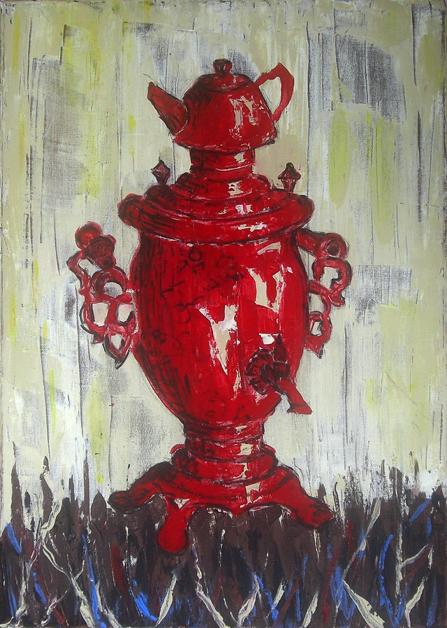 "Painting ""Samovar"", painted by Elena Birkenwald in 2008"