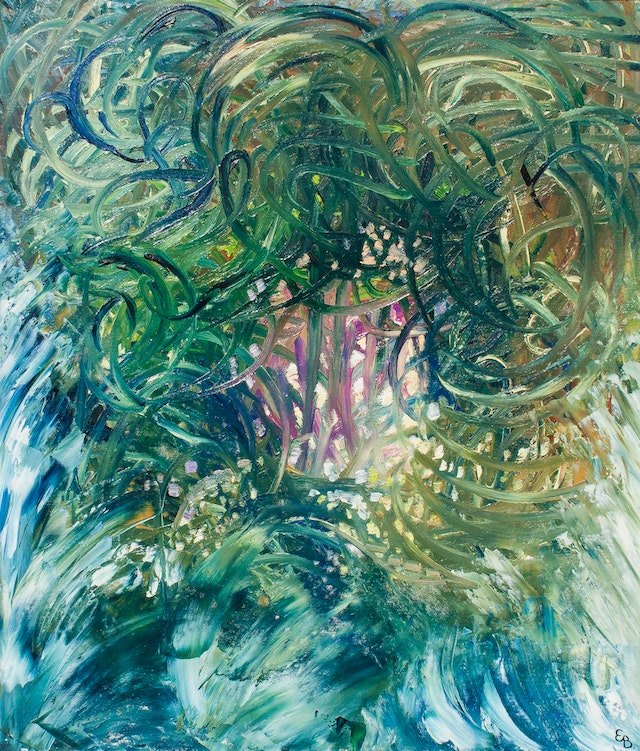 """Painting """"Sea monster"""", painted by Elena Birkenwald in 1998"""