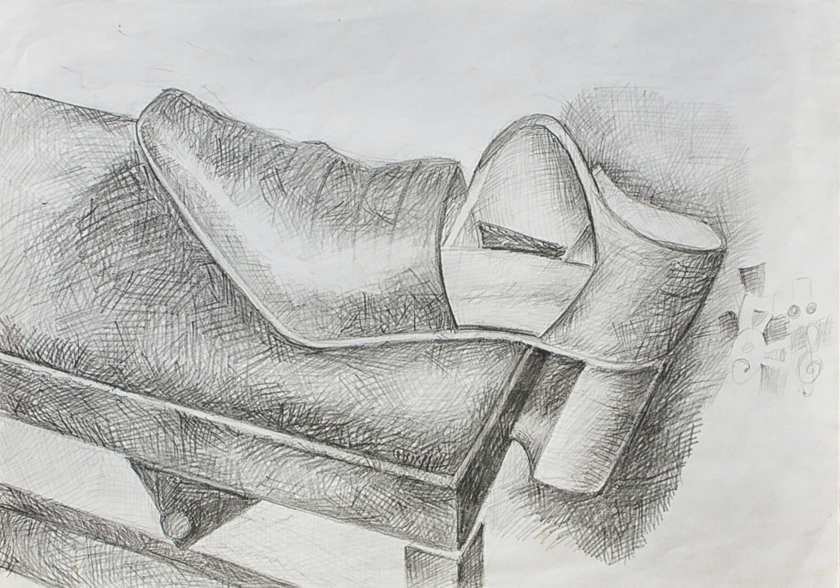 Shoe on piano seat
