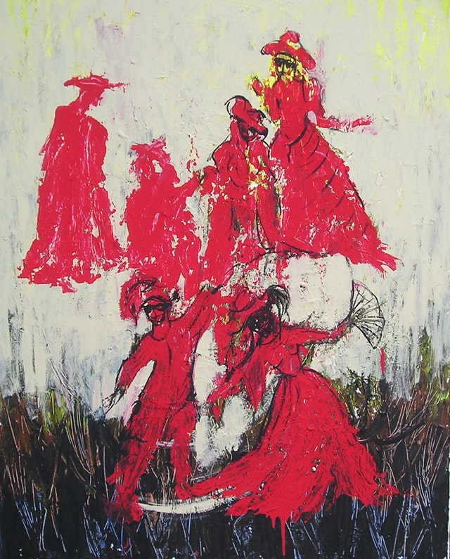 "Painting ""Spanish dance"", painted by Elena Birkenwald in 2006"