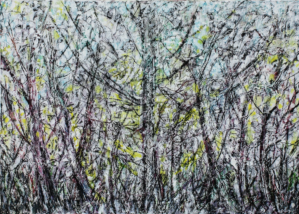 """Painting """"Spring woods"""", painted by Elena Birkenwald in 2011"""