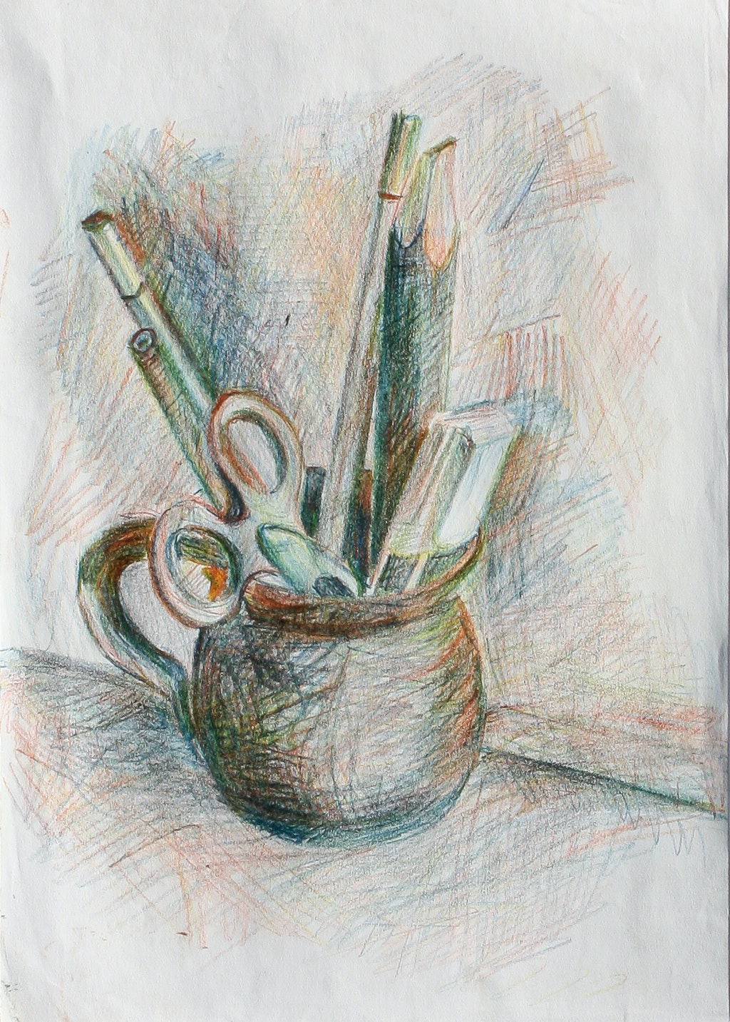 """Painting """"Still life"""", painted by Elena Birkenwald in 2005"""