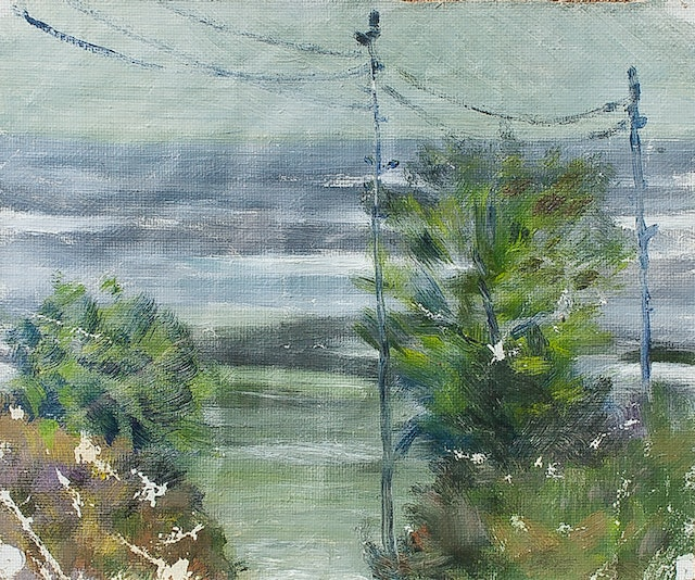 """Painting """"Storm at the sea"""", painted by Elena Birkenwald in 1986"""