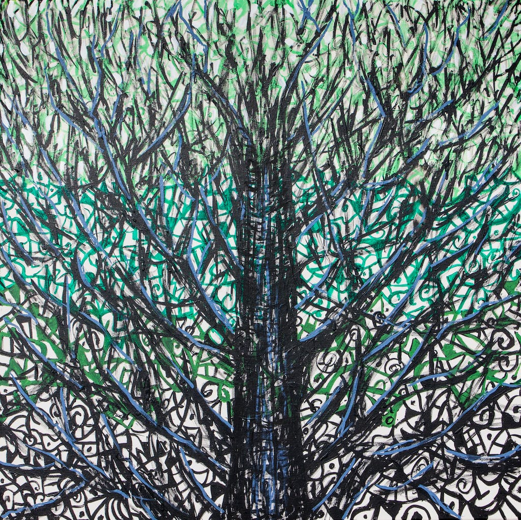 """Painting """"Tree"""", painted by Elena Birkenwald in 2012"""