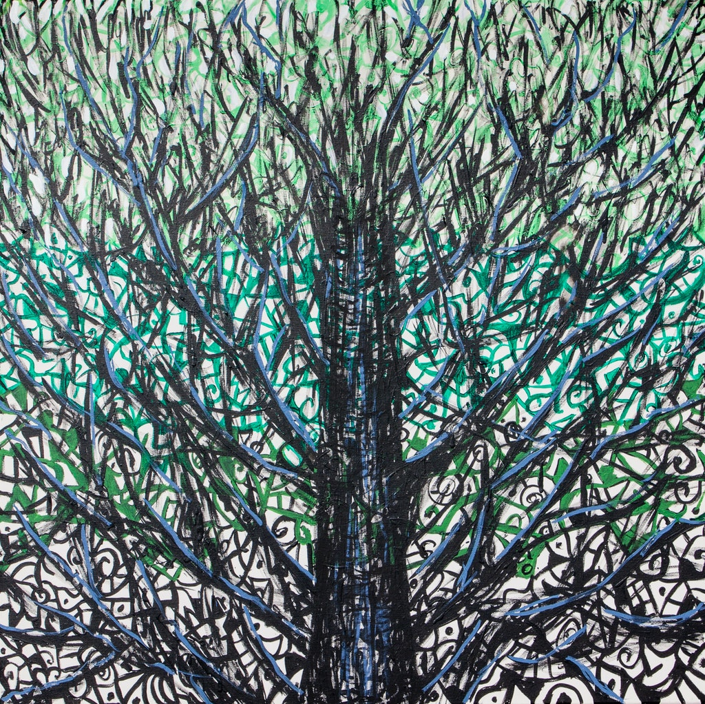 "Painting ""Tree"", painted by Elena Birkenwald in 2012"
