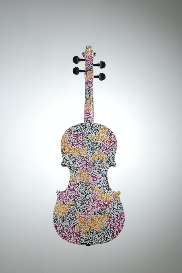 "Violin ""Autumn"", painted by Elena Birkenwald in 2006"