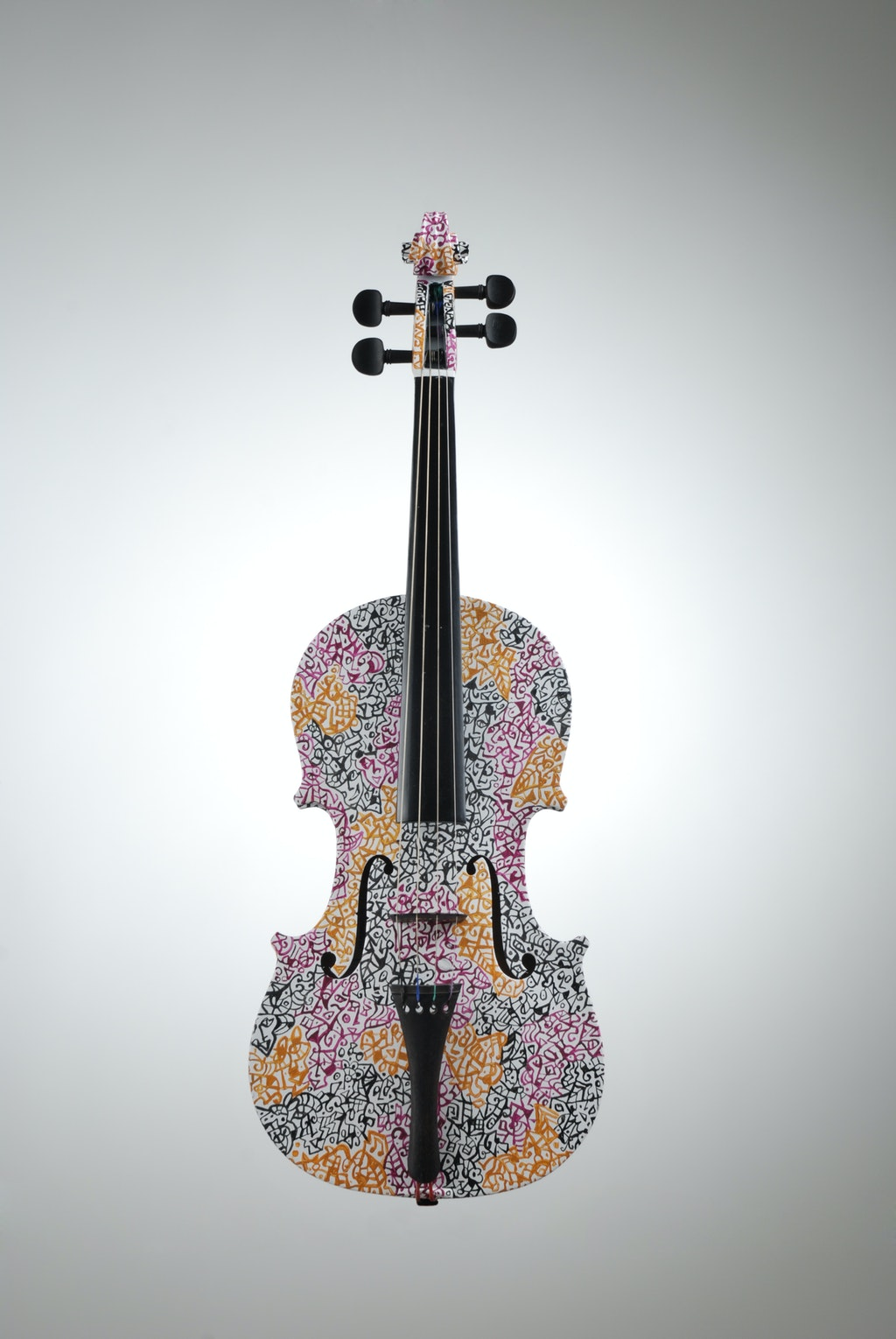 """Violin """"Autumn"""", painted by Elena Birkenwald in 2006"""