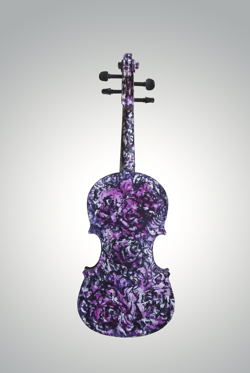 "Violin ""Magdalene's rose"", painted by Elena Birkenwald in 2009"