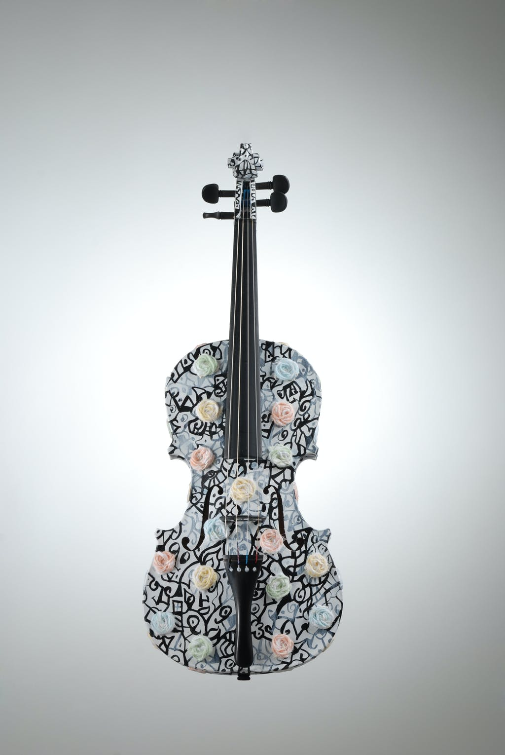 "Violin ""Pastorale"", painted by Elena Birkenwald in 2008"