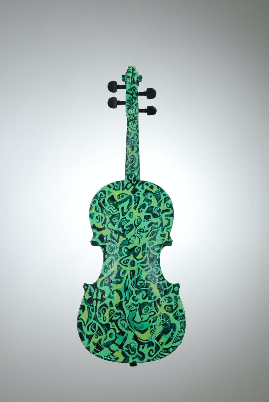 "Violin ""Summer"", painted by Elena Birkenwald in 2007"
