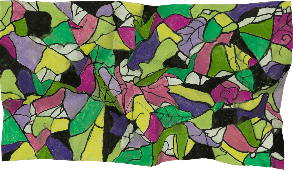 """Painting """"Vitrage"""", painted by Elena Birkenwald in 2020"""
