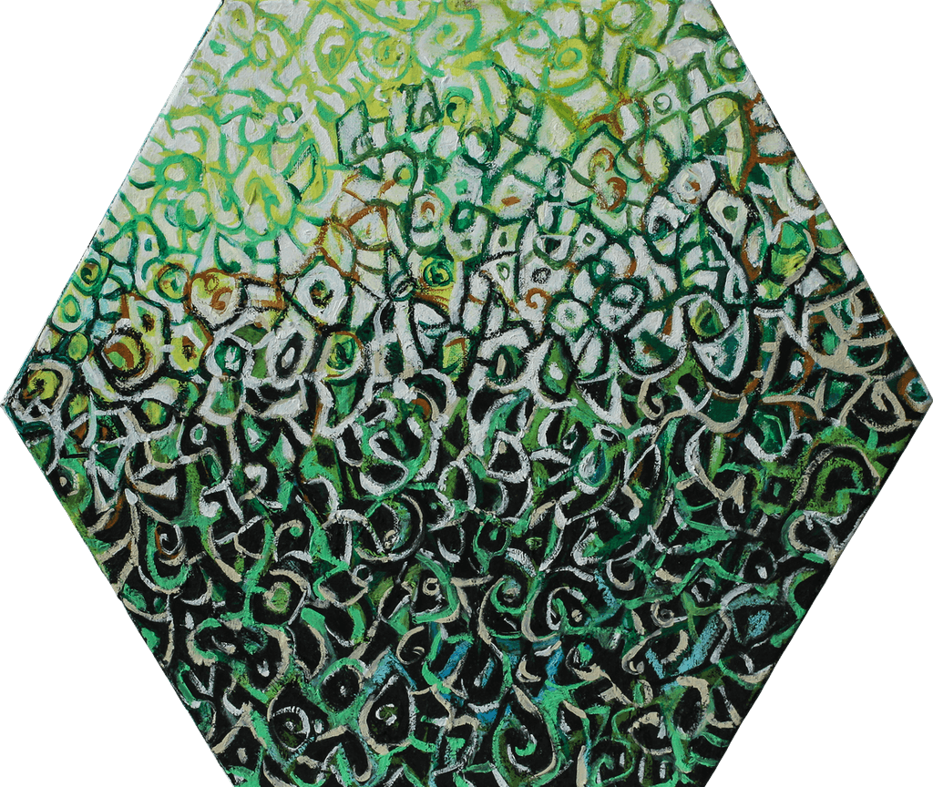 "Painting ""Wild herbs"", painted by Elena Birkenwald in 2009"