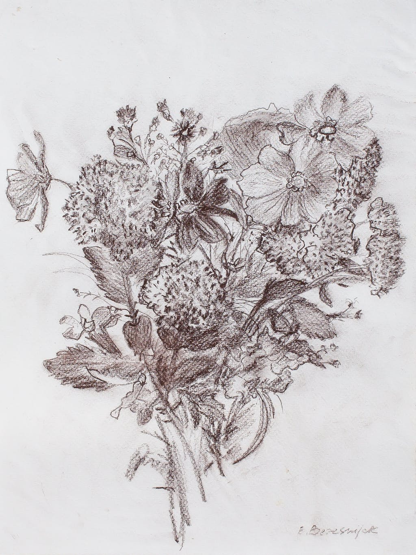 "Painting ""Wildflowers"", painted by Elena Birkenwald in 1997"