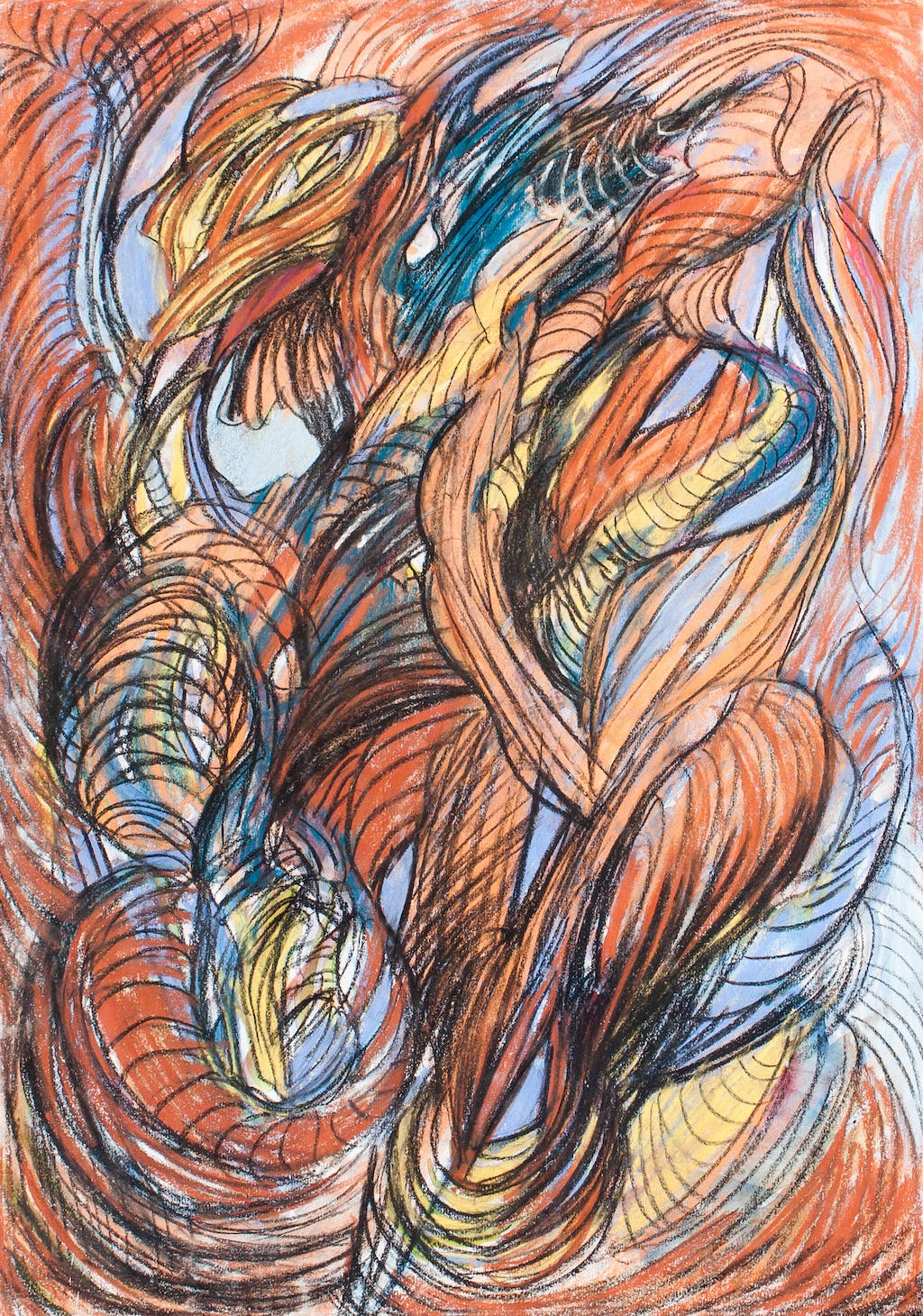 """Painting """"Wind"""", painted by Elena Birkenwald in 2005"""