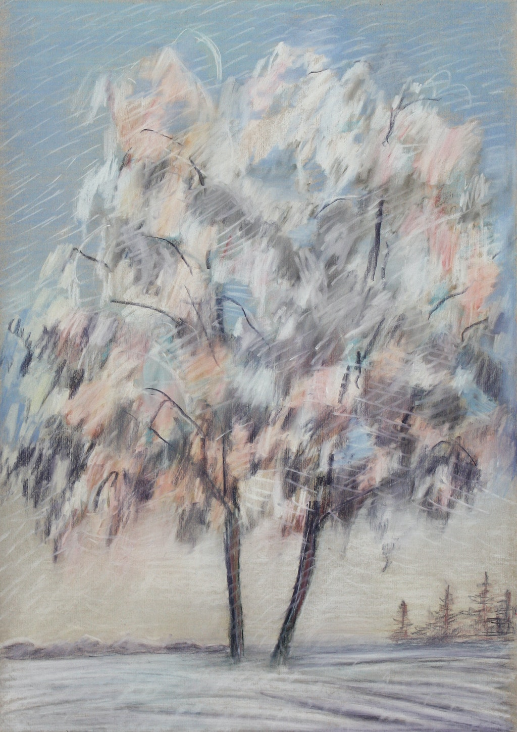 "Painting ""Winter"", painted by Elena Birkenwald in 2000"