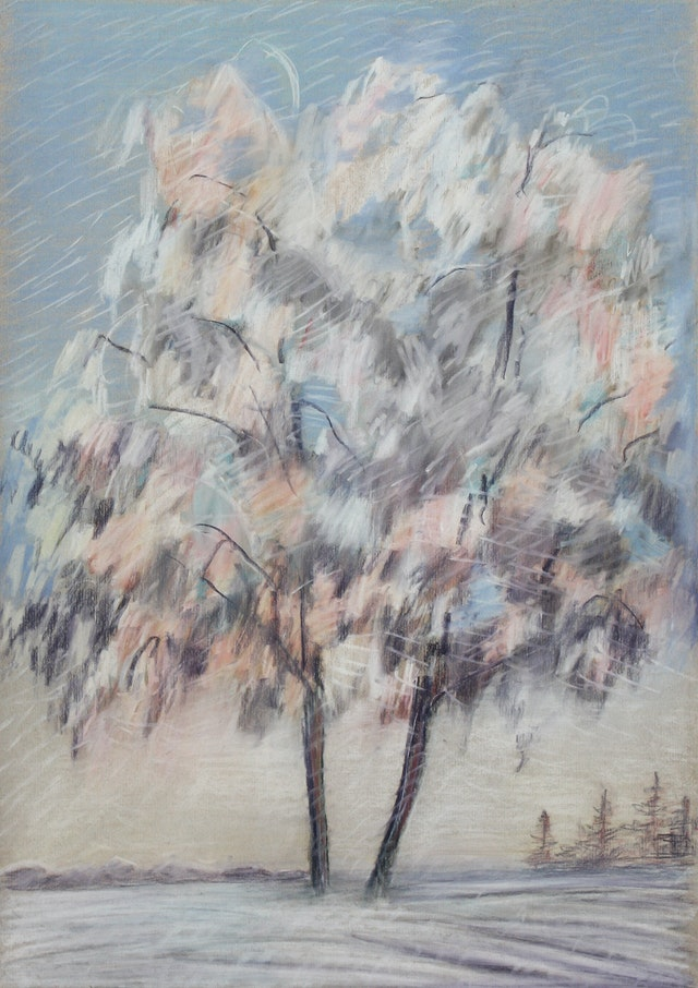 """Painting """"Winter"""", painted by Elena Birkenwald in 2000"""