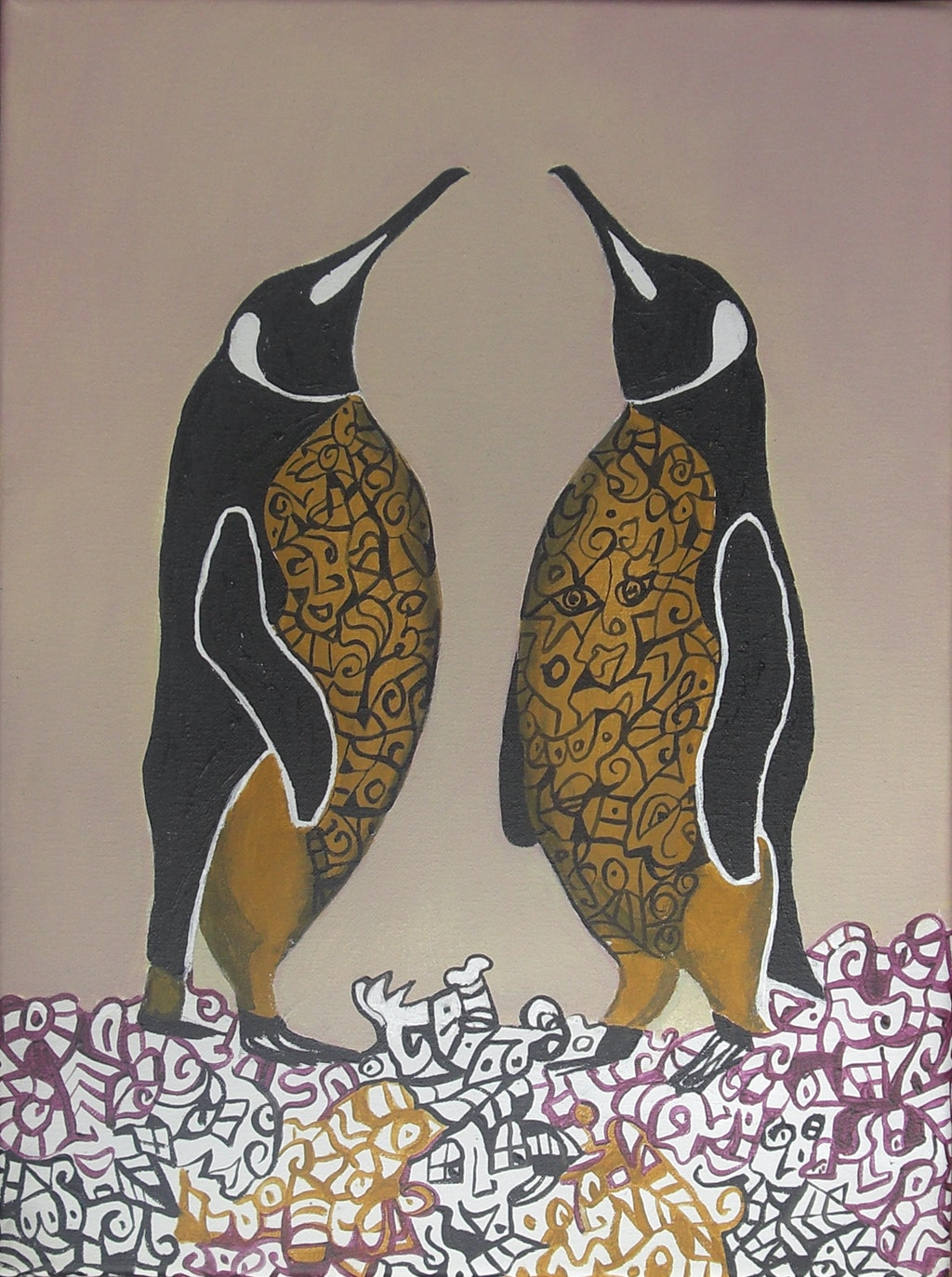 """Painting """"You and me"""", painted by Elena Birkenwald in 2007"""
